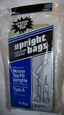 New Sealed 15 Sears Upright Vacuum Bags Hoover Top Fill Uprights Type A 20 45051