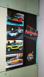 BACK TO THE FUTURE Pt. 2 Movie Cars Vintage 1989  Poster LAST ONE