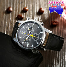 Black Leather Luxury Classic man Wrist Sport Watch