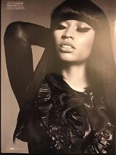 Nicki Minaj 6pg ELLE magazine feature, clippings