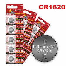 5PCS/Sheet 3 Volt CR1620 Button Cells Coin Batteries for Watch Camera RC Sturdy