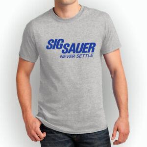 Sig Sauer Never Settel Firearms Rifles New T-Shirts S-3XL