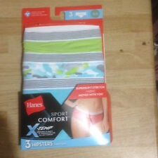 Clothing - 3-Pack Hanes Size 5 Small Hipster Panties Sport Comfort Cotton GCT