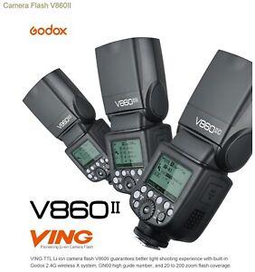 GODOX V860II (2 flashes) with Godox X Pro Trigger for Canon DSLR Kit