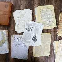 30X Vintage Newspaper Paper Pad Sticker Scrapbooking Junk Journal Planner DIY