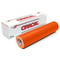 Oracle 651 Glossy Permanent Vinyl Rolls Orange Permanent Adhesive 12 x 6 Ft