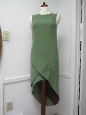 J. Mendel Dress Silk Green Asymmetrical NEW Sz 6