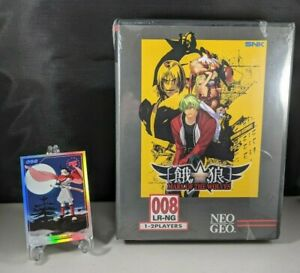 Garou Mark of The Wolves Classic Edition + #098 Trading Card Sony PS4