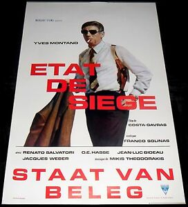 1972 État de Siège ORIGINAL Belgium POSTER State Of Siege ICONIC cool ART