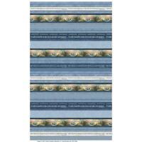 Coastal Haven Lighthouses Stripe 6951-53 Cotton Fabric Benartex Choose Your Cut