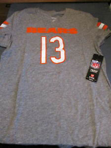 NWT NFL APPAREL CHICAGO BEARS NFL #13 WHITE GIRLS V NECK T SHIRT GRAY XL 16