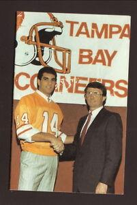 Tampa Bay Buccaneers--Vinnie Testaverde--Ray Perkins--1987 Pocket Schedule-Coke