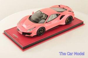 Ferrari 488 Pista Metallic Pink w/ Display Case - Limited 10 pcs MR 1/18