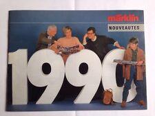 catalogue MARKLIN nouveautés 1990 - 32 pages - langue : FR - 1 / HO / Z