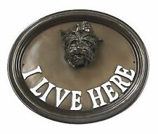 "Wall Or House Sign Yorkshire Terrier ""I Live Here"""