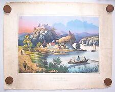 Kolo. Lithografie Am Morgen Ruine Hochwinzer in Bayern Breyer Dresden um 1870