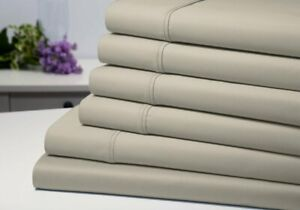 Luxury Bamboo Taupe Sheet Set Queen Deep Pocket 6 Pc Set by Bibb Home