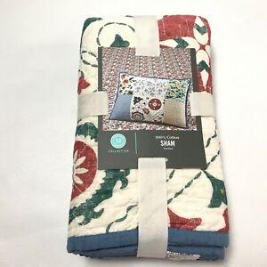 "Martha Stewart Collection English Garden Cotton Pillow Standard Sham 20x28"" New"
