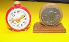 Two Watches for The Doll's House Dollhouse Clock Alarm Adjustable - Fireplace