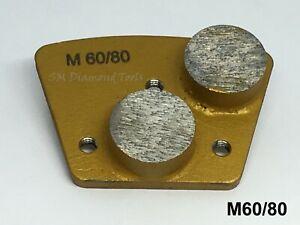 9-pack:Trapezoid Round 2 Segments Diamond Grinding Polishing Medium Bond 60 Grit