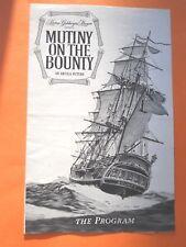 Mutiny On The Bounty Movie Program - Marlon Brando - Trevor Howard
