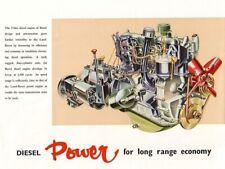 LAND Rover Serie 1960-II MOTORE DIESEL BROCHURE POSTER Retrò Classico annuncio A3