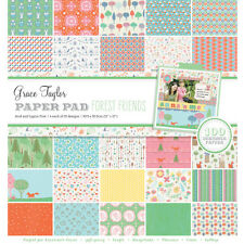 "Grace Taylor Forest Friends 100 Sheets 12"" x 12"" Bumper Paper Kit * FREE POST *"