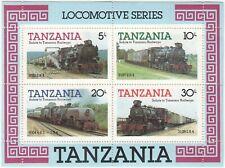 Salute To Tanzania Railways, 1985 Souvenir Sheet, MNH, SG MS434, Locomotives