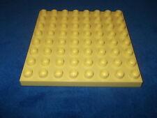 Lego Duplo Bauplatte Platte 1 X 8 X 8er Noppen hell Gelb Hellgelb 10505 5639 Rar