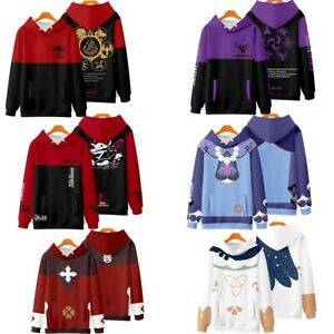 Genshin Impact Diluc Venti Keqing Amber Xiao Lisa Klee Hoodie Sweatshirts Coats