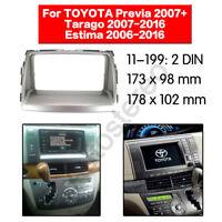 2 Din Car Radio fascia Panel Adapter for TOYOTA Previa Tarago 2007+ Estima 2006+