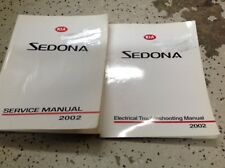 2002 KIA Sedona Service Repair Shop Workshop Manual Factory OEM Set W ETM