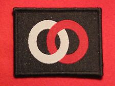 BRITISH WW2 36TH INFANTRY DIVISION FORMATION SIGN PATCH BADGE INTERLOCKED RINGS