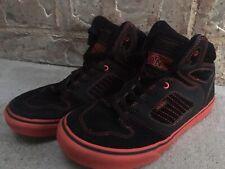 Vans Red Black Suede Alomar SK8-HI Shoes  Skateboard US Youth size 5