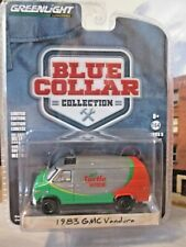 Greenlight Turtle Wax 1983 GMC Van Green Machine Chase 1/64 dicast rubber tires