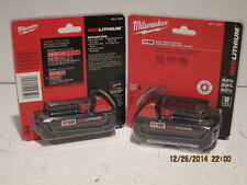 MILWAUKEE GENUINE 48-11-1815 (2) M18 RED Lithium-Ion Battery-F/SHIP NIS-PACKS!!!