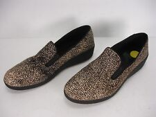 FITFLOP PONY HAIR POLKA DOTS PLATFORMS WEDGES SLIP ON LOAFERS SHOES WOMEN'S 37.5