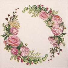 4x Paper Napkins for Decoupage Decopatch Craft Wedding watercolour wreath
