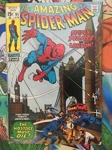 Amazing Spiderman #95 FN+ Spidey in London! Romita
