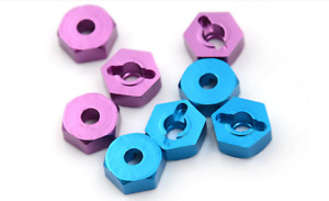 US SELLER: Metal Aluminum 12mm Hex Wheel Hub For 1:10 Traxxas Redcat Blue Purple