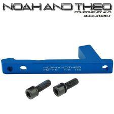 Ultralight Disco Freno Adaptador Delantero 180mm Envio Pm Horquilla A Pinza Azul