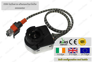 Universal OEM HID Ignition Ballast To D2S D2R 35W Bulb Connector Plug Converter