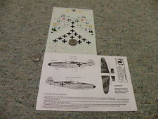 Eagle Strike  decals 1/72 72012 BF-109 Fighters Part 1    N73