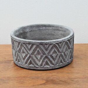 Stone Concrete Geometric Cement Grey Herb Plant Pot Cover Planter Heavy Bowl