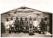 LOT de 2 cartes des Indiens Sioux à Fort Yates Grass dancers et Teepees