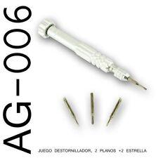 Destornillador Multiple Especial Relojero - 4 Puntas De Acero - Armazon Aluminio