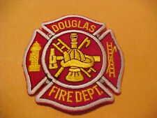 DOUGLAS GEORGIA FIRE PATCH NEW 3 1/2 X 3 1/2 INCH