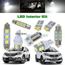 10x White LED Map Dome lights interior package kit fit 2013-2016 Honda CR-V CRV