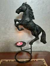 Black horse iron table middle candle holder home decorating in stand position
