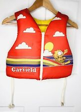 Vintage 1978 Garfield Swimming Life Jacket Vest Jim Davis Child Youth Medium